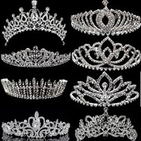 Wholesale 2016 crystal vintage wed crown bridal tiara hair accessories for wedding quinceanera tiaras and crowns pageant rhineston crown hairbands