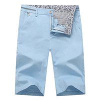 arrival bermuda shorts - Men s Shorts Fashion Summer New Arrival Casual Slim Shorts Straight Solid Cotton Bermuda M XL Size Colors