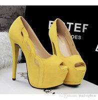 basic pump - Classica suede pumps sexy stiletto heels yellow pumps colors women s basic high platform heel dress shoes
