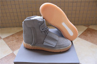 Wholesale 2016 new quot Light Grey quot men shoes Kanye West Boost Glow Mens Shoe Ankle Boots sneakers original