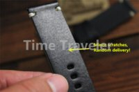 bag watchbands - Handmade Vine Genuine Leather Strap mm Black Watchband With Stainless Buckle Replacement Watch Band Bl strap bag