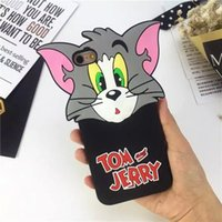apples tom - 3D Cartoon Tom and Jerry Cases Silicone Rubber Gel Soft Back Cover for iPhone S Plus S Plus Cute Lovely Protective Shell Skin