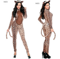 Wholesale Sex Spandex Suits - Sexy Women EXOTIC Catwoman Fancy Dress Jumpsuit Suit Halloween sex toys party Cosplay Outfit 453