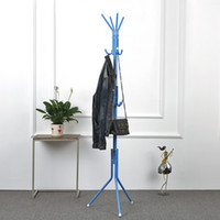 Wholesale IKAYAA Modern Metal Frame Coat Hat Rack Stand Hanger Cloth Jacket Rack for Living Room Office Hallway Layer Hooks H16912