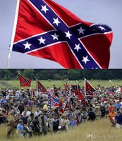Wholesale New Printed Flag Confederate Rebel Civil War Flag National Polyester Flag X3FT D by DHL