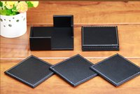 leather coaster - Household leather coasters great table mat and suit heat insulation cup mat high quality products