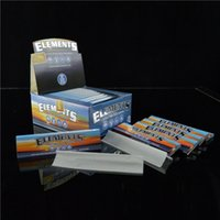 Wholesale Elements Rolling Papers King Size mm mm Smoking Papers Ultra Thick Rice Cigarette Paper Pure Gum Rolling Paper booklet box