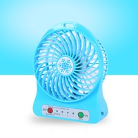 Wholesale New Sports Handheld Mini Fan Blue Small Convenient USB Rechargeable Fan Portable Air Cooling Fan for Summer Gift