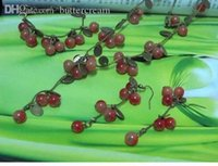 agate jewelery - Hot Whosesale Jewelery Sets Sweet Cherry Agate Necklace And Earrings Acryle Bangle Bracelets SJ009