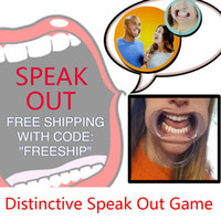 Wholesale site speak out game ctn party famliy game cards for Christmas gift funny Toy jokes open mouth game adult phrases Ridiculous mouthpiece