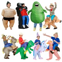 Wholesale Child Inflatable Dinosaur Costume Halloween Cosplay Costumes for Boy and Girl