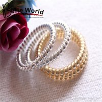 amazon silver rings for women - 100pcs golden silver telephone rope Hair Bands Hair ties Hair ring hair wear Hair Accessories for children girl women amazon extra gift