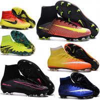aa s - 2016 Kids Mercurial Superfly CR7 FG Youth Soccer Cleats Magista Obra Soccer Shoes Outdoor s League Football Boots Hypervenom II Cleats