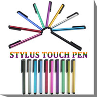 Wholesale Capacitive Screen Stylus Pen Touch Pen For iPhone S Plus S iPad Air iTouch Samsung Galaxy S7 LG Moto All Cellphone Tablet PC MOQ