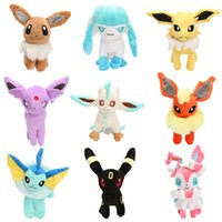 Wholesale 17 cm Eevee Series Poke plush toy Eevee Espeon Flareon Espeon Glaceon Jolteon Umbreon Vaporeon Leafeon Stuffed Doll Plush Toy