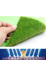 artificial turf greens - 2016 NEW Micro Landscape Decoration DIY Mini Fairy Garden Simulation Plants Artificial Fake Moss Decorative Lawn Turf Green Grass x15cm MY