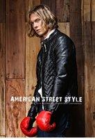 Wholesale 2016 new autumn man Pu warm Leather Motorcycle lozenge Plush Mens Jacket black size M XL