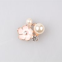 Wholesale 48pcs Fashion pearl brooch pinsHight Quality White Crystal pin Brooch Bouquet Rhinestone Brooches wedding dress accessoriesMYQBB087