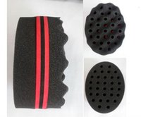 Wholesale Double Side Barber Magic Hair Sponges Brush For Dreads Locking Twist Coil WAVE Hair Sponges s