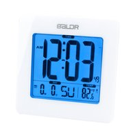 atomic alarm clocks - Digital Atomic Alarm Clock Time Calendar DST Temperature Display Blue Backlight