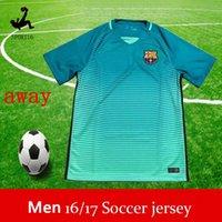 Wholesale messi away blue adult jerseys Camiseta de futbol SUAREZ INIESTA PIQUE SOCCER JERSEYS Purple Messi shirts shirt kits