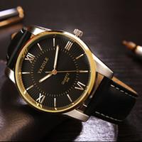 analog stereo - Mens watch Waterproof Business Stereo men gold luxury Quartz Watch Men s wristwatch Japan Movement Quartz Watch