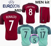 Wholesale Top Thai quality new Euro Cup Rugby Portugal jerseys RONALDO NANI QUARESMA PEPE GUERREIRO Mens Portugal Shirts JERSEY