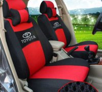Wholesale ventilate Embroidery logo Car Seat Cover Front Seat cushion fit TOYOTA LAND CRUISER RAV4 Highlander PRADO with neck pillows