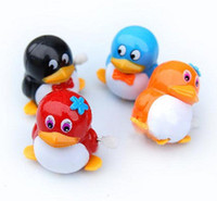 Wholesale QQ penguin baby toys clockwork toys baby toys spread the goods on the chain toy for Free Post