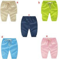 baby pants comfort - Baby cotton linen pants trousers comfort children mosquito solid color kids Summer Boys and girls breathable pants