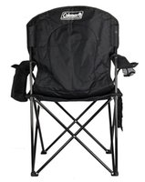 Wholesale Camping Outdoor Oversized Quad Chair w Cooler Cup Holder Black