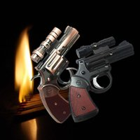best pistol laser - Unique Cool Gun Pistol Jet Torch Cigar Cigarette Gas Lighter With Laser Sight best cigar lighter refillable lighter PML