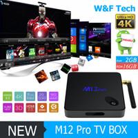 full hd media player - M12 PRO Octa Core Android Amlogic S912 TV BOX G G G G WiFi Bluetooth Custom KODI Media Player Better Much M8S MXQ PRO