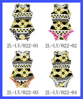 aztec patterns - Children Clothing Manufacturer China Casual Aztec Pattern Girl Rompers Newest Design Summer Baby Pom Pom Romper Clothes