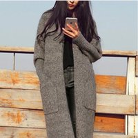 Wholesale New Sweaters Clothes Cardigans Casual Loose Long Cotton Cardigan Casual Long Sleeve Knitting Women Sweaters coat