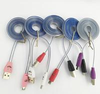 Precio de La iluminación universal,-Sonrisa línea de luz Micro USB V8 Cable del cargador Cable de datos de la luz LED Sonriendo Flashing 1M Cordones de carga de fideos para ap 4/5/6/7 Galaxy S4 Android