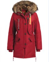 big red ribs - 1 Original Quality Women Kodiak Winter Jackets Red Color Kodiak Outlet Norge Removable big Fur Size XS XL