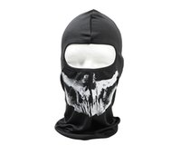 Wholesale Ghost Skull Full Face Mask Cosplay Balaclava Paintball Outdoor Hood WarGame Airsoft Hunting Tactical Masks Hunting Accessories