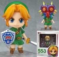 Wholesale 10CM The Legend of Zelda Link Nendoroid Majora s Mask D Ver Q Version PVC Action Figures Collectible Model Toy