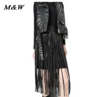 beautiful hong kong - 2015 Autumn Hong Kong Style PU Leather Tassels Fake Skirt Ceinture Femme Wild Beautiful Luxury Elegant Waist Belts For Women