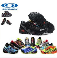Wholesale 2016 Hiking Shoes Mens Salomon Speedcross Shoes Outdoor Sport Solomon Sneakers Solomons Running Shoes Boots Size