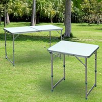 Wholesale Patio Outdoor Folding Portable Camping Square Roll Up Top Aluminum Picnic Table
