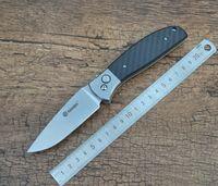 Wholesale Ganzo G7482 CF Camping Tactical EDC Pocket Folding Knife Carbon Fiber Handle Stonewashed c Blade with Safe Lock