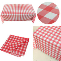 bbq wipes - Disposable Plastic Red Gingham Table Cloth Wipe Check Tablecloth For Party Outdoor Picnic BBQ