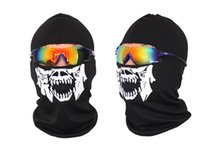 best adult bike helmet - Skull Bandana Bike Helmet Neck Face Mask Paintball Sport Headband Cheap Full Mask For Men Face Mask Best Lower Half Face Adults Scarves