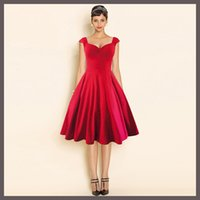 art deco lady - Hot New Fashion High quality Women Casual Prom Dresses Summer Vintage V Neck Solid Sleeveless Lady Ball Gown Party Garden Diner Dress