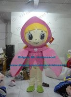 adult fairy wings - Pleasant Pink Pixie Flower Faerie Fairy Mascot Costume Cartoon Character Mascotte Adult Small Wings Big Eyes Long Hair ZZ842 FS