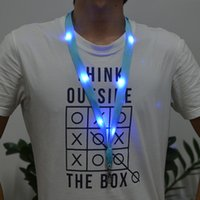 big ids - New Nylon Material Multi colors Led Flashing Lanyard ID Card Pendant Hanging Cord For Party Shows and Outdoor Activities