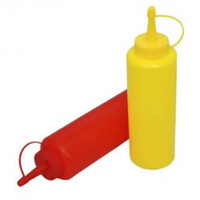bbq peppers - 2 Pieces Set Plastic Oil Soy Sauce Ketchup Squeeze Bottle BBQ salad kitchen tools Have Stock In UK OZ ml