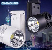 Wholesale 30W Warm Cold White COB LED Track Light Bulb Taiwan Epistar chip spot light Volt LED Wall Track Lighting